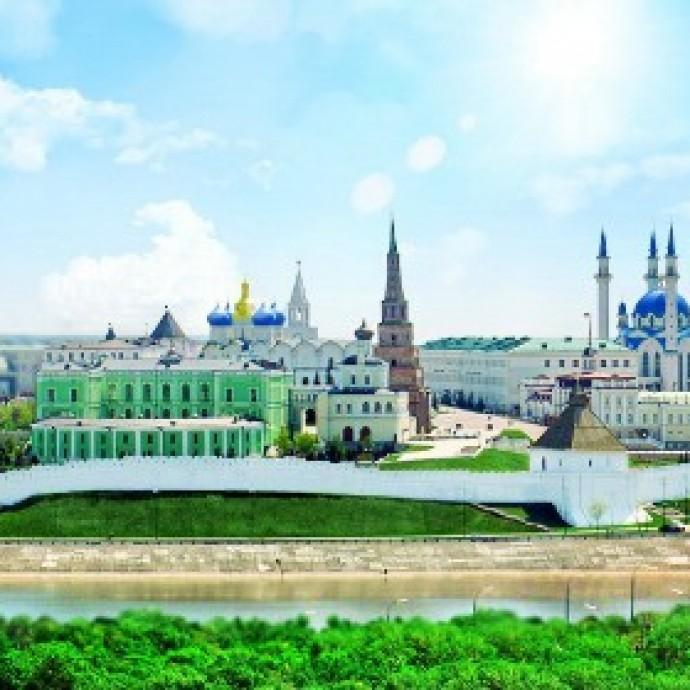 Казанский кремль и мечеть Кул-Шариф. Казань, республика Татарстан